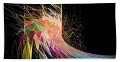 Fractal Beauty Deluxe Colorful Beach Towel
