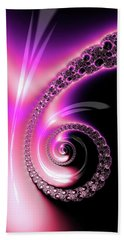 Beach Towel featuring the photograph Fractal Spiral Pink Purple And Black by Matthias Hauser