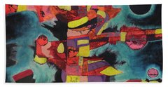 Fractured Fire Beach Towel