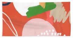 Fragments 4- Art By Linda Woods Beach Towel