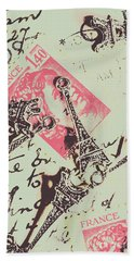 Francs Script Beach Towel