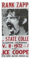 Frank Zappa Alice Cooper 1972 Poster Beach Towel