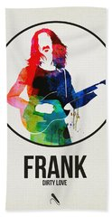 Frank Zappa Watercolor Beach Towel