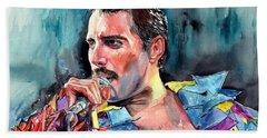 Freddie Mercury, New York City 1983 Beach Towel