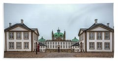 Fredensborg Palace In Denmark In Symmetry Beach Towel