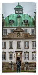 Fredensborg Palace With Armed Guard Beach Towel