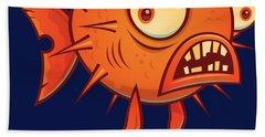 Free Hugs Cartoon Blowfish Beach Towel