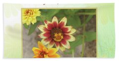 Friendship, A Smiling Indian Blanket Flower  Beach Towel