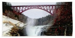Frletchworth Railroad And Falls Beach Towel
