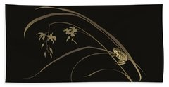 Frog And Orchid Beach Towel