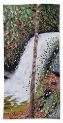 Frolictown Falls Beach Towel