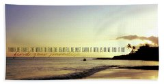 From Here To Eternity Quote Beach Towel