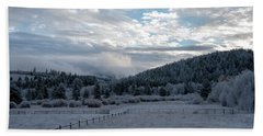 Frosted Sunrise 1 Beach Towel