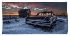 Beach Towel featuring the photograph Frozen Galaxie 500  by Aaron J Groen