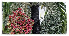 Fruity Palm Tree  Beach Sheet