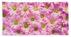 Full Of Pink Flowers Beach Sheet