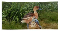 Fulvous Whistling Ducks  Beach Towel