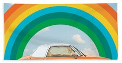 Funky Rainbow Ride Beach Towel