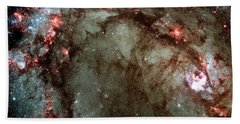 Beach Sheet featuring the photograph Galaxy M83 Star Birth Outer Space Image by Bill Swartwout Fine Art Photography