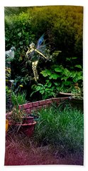Beach Towel featuring the digital art Garden Fairy Fantasy by Robert G Kernodle