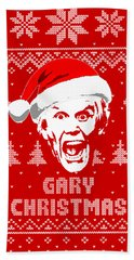 Gary Busey Christmas Shirt Beach Towel