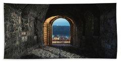 Beach Towel featuring the photograph Gate At Kalemegdan Fortress, Belgrade by Milan Ljubisavljevic