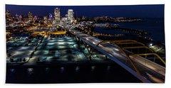 Beach Sheet featuring the photograph Gateway To Milwaukee by Randy Scherkenbach