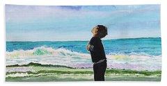 Gazing At Gulls Beach Towel