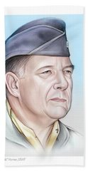 General Chuck Horner - Color Beach Towel