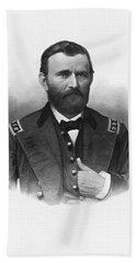 General Grant Engraved Portrait Beach Towel