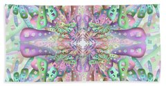 Beach Towel featuring the digital art Genome Remix Two by Vitaly Mishurovsky