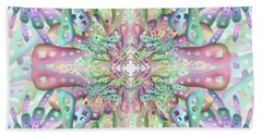 Beach Towel featuring the digital art Genome by Vitaly Mishurovsky