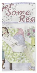 Get Some Rest Beach Towel