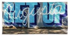 Get Up Augusta Ga Mural  Beach Towel