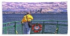 Getting The Shot - Seattle Beach Towel