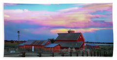 Beach Towel featuring the photograph Ghost Horses Pastel Sky Timed Stack by James BO Insogna