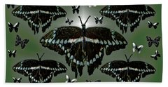 Giant Swallowtail Butterflies Beach Towel