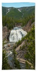 Beach Towel featuring the photograph Gibbon Falls by Matthew Irvin