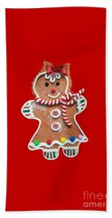 Beach Towel featuring the photograph Gingerbread Cookie Girl by Rachel Hannah