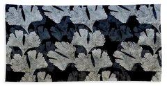 Ginko Leaf Pattern Beach Towel