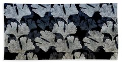 Ginko Leaf Pattern Beach Towel