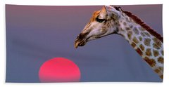 Beach Towel featuring the photograph Giraffe Composite by John Rodrigues