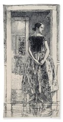 Girl In A Modern Gown - Digital Remastered Edition Beach Towel
