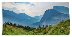 Beach Towel featuring the photograph Glacier Canyon Vista by Lon Dittrick
