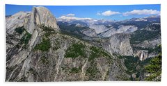 Beach Towel featuring the photograph Glacier Point Overlook by Dawn Richards