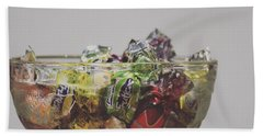 Glass Bowl Of Candies Beach Sheet