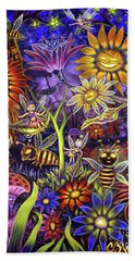 Glowing Fairy Forest Beach Towel