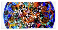 Beach Towel featuring the mixed media Go With The Flow 1 by Mimulux patricia No