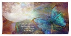 God Will Be With You Beach Towel