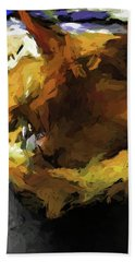 Gold Cat And The Shadow Beach Towel